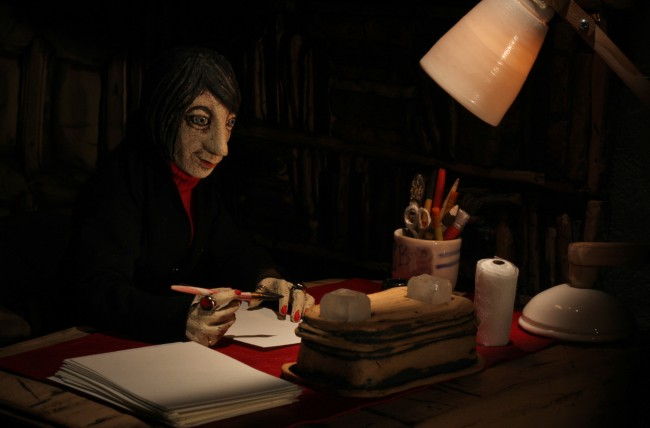 Film still from the Bradford Animation Festival Ident