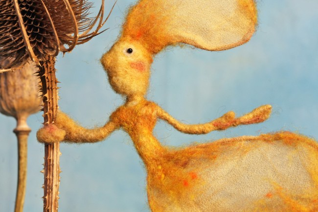 Photograph of a wool puppet