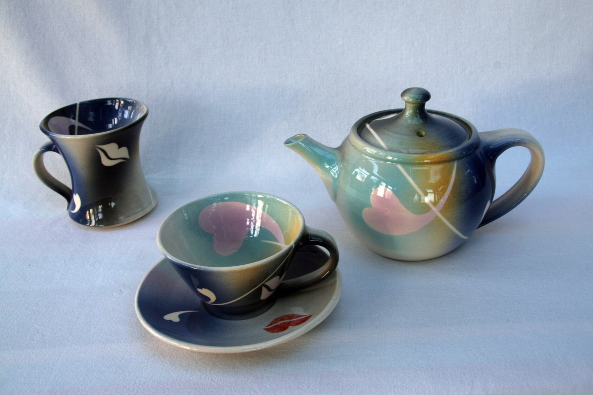Photograph of a tea set