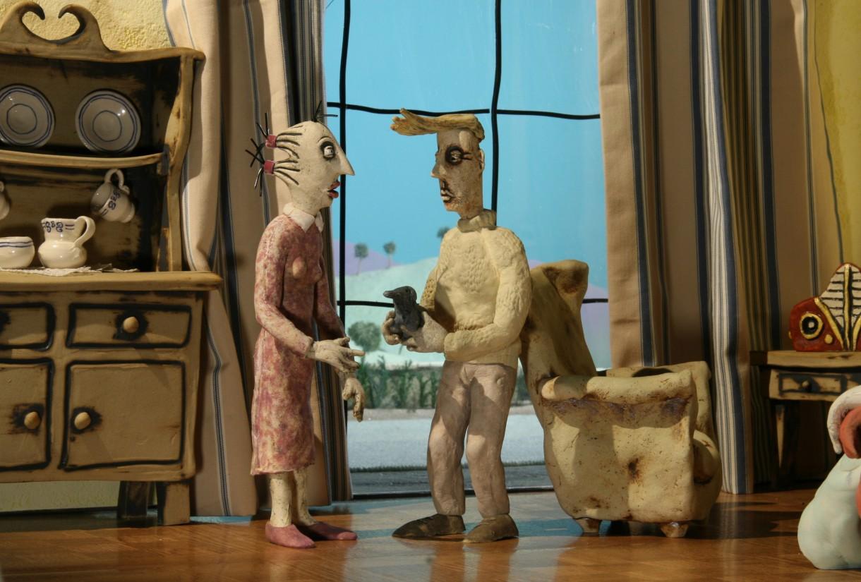 Still image from the film Small Birds Singing